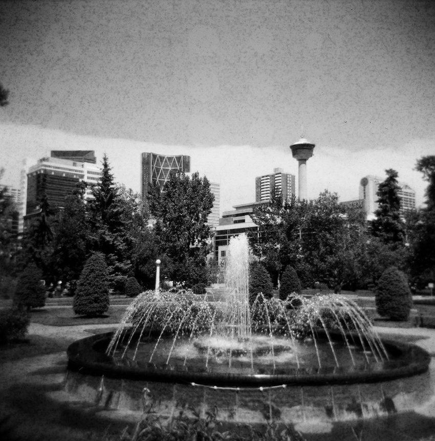 fountain in Central Memorial Park