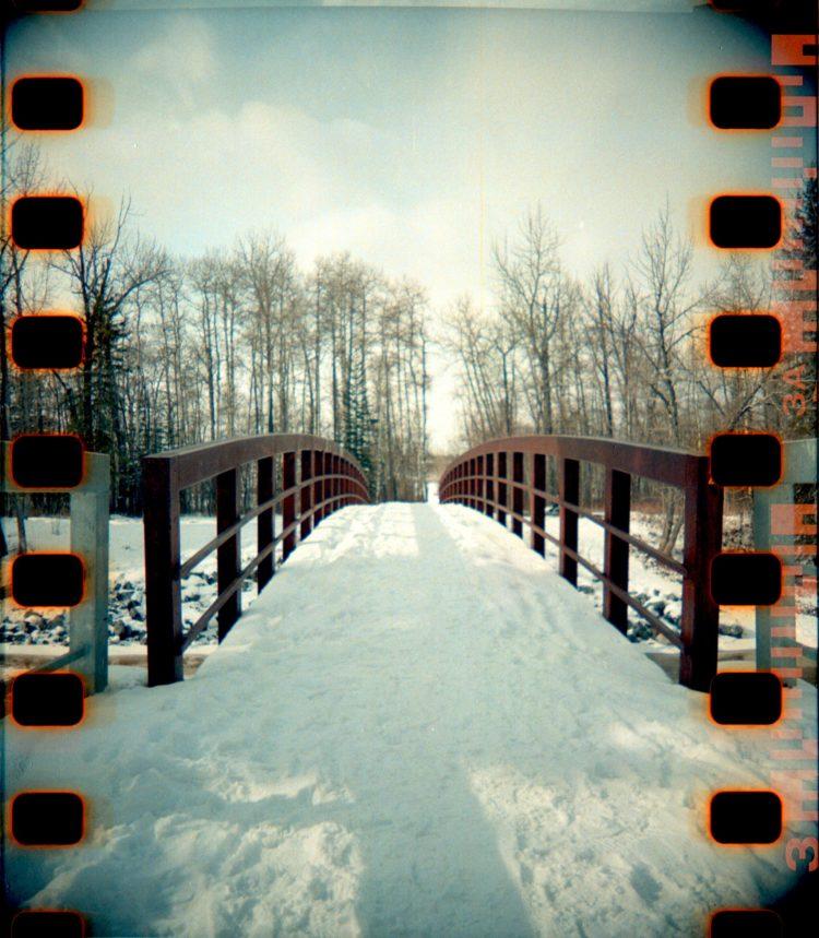 a bridge in Fish Creek Park