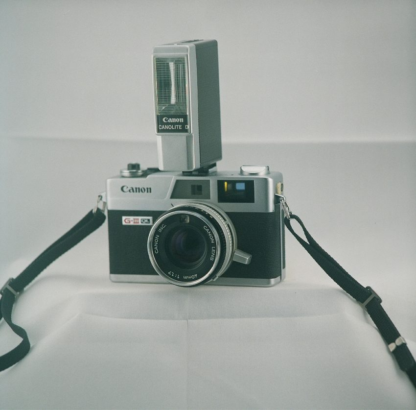 Canon Canonet QL17 Giii camera with Canolite D flash