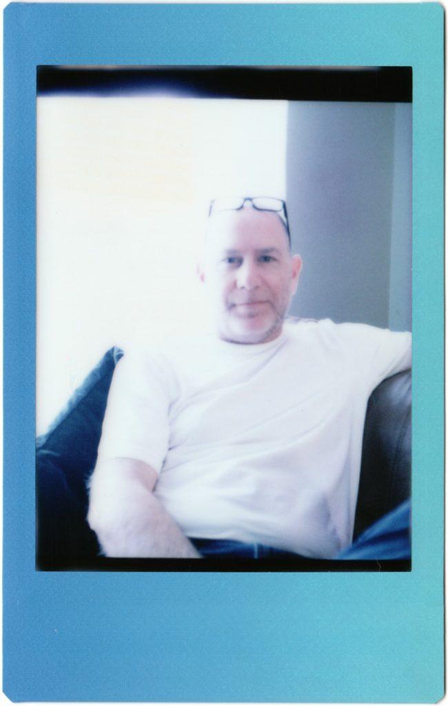 self-portrait shot with Mamiya C220 on Instax Mini film
