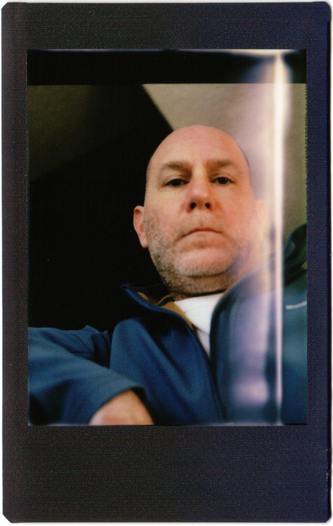 selfie & light leak shot with Mamiya C220 on Instax Mini film