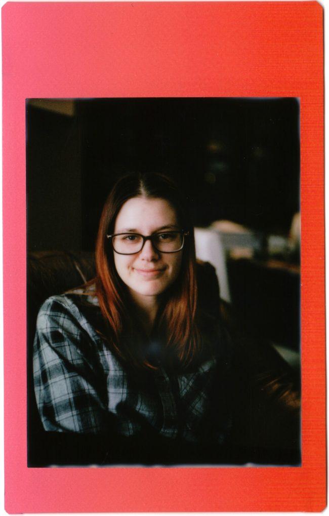 upside down portrait shot with Mamiya C220 on Instax Mini film