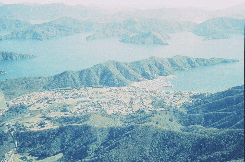 Waikawa New Zealand from the air