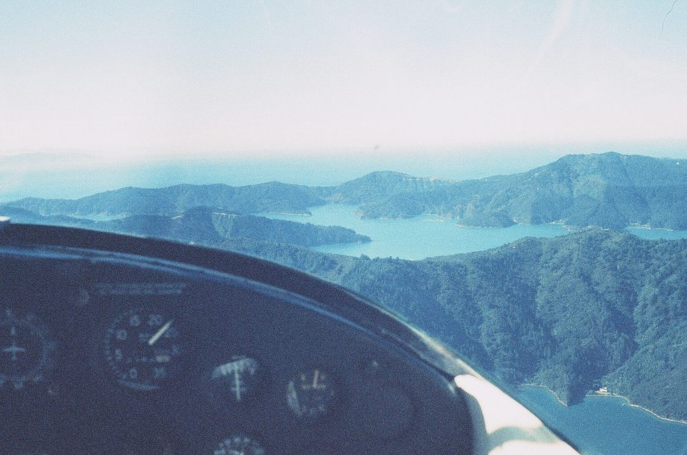 Queen Charlotte Sound New Zealand from the air