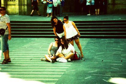 selfie in San Sebastián