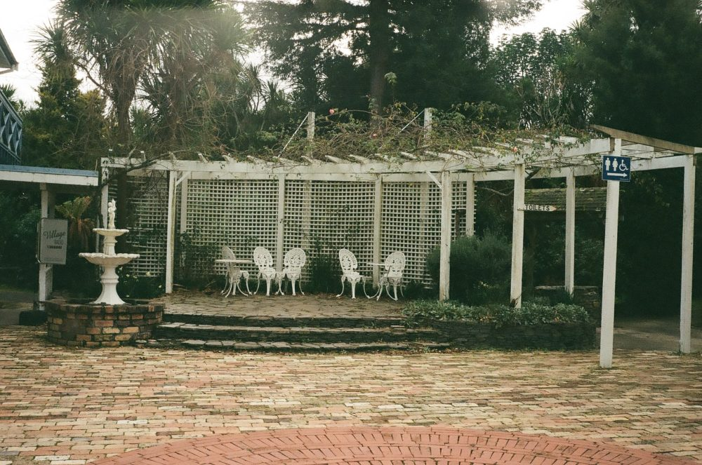 metal chairs at Historic Village, Tauranga, NZ