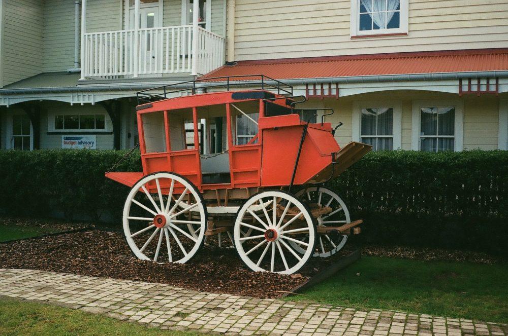 stagecoach at Historic Village, Tauranga, NZ