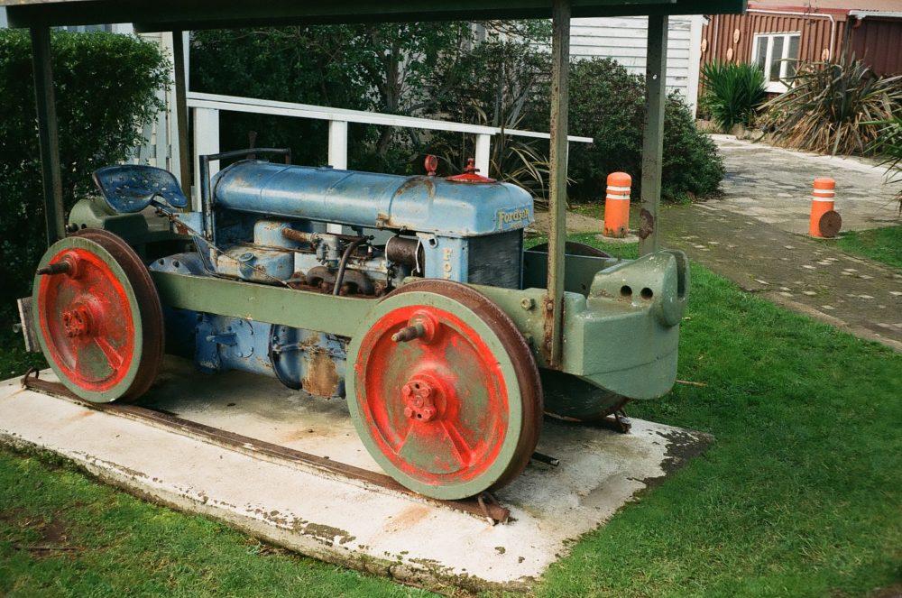 old tractor at Historic Village, Tauranga, NZ