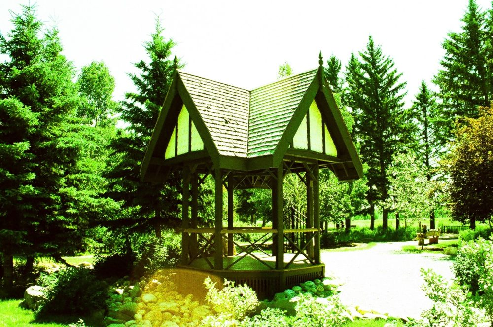 gazebo at Bow Valley Ranch in Fish Creek Park