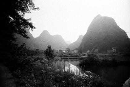Yangshuo countryside on Double-X 5222 film