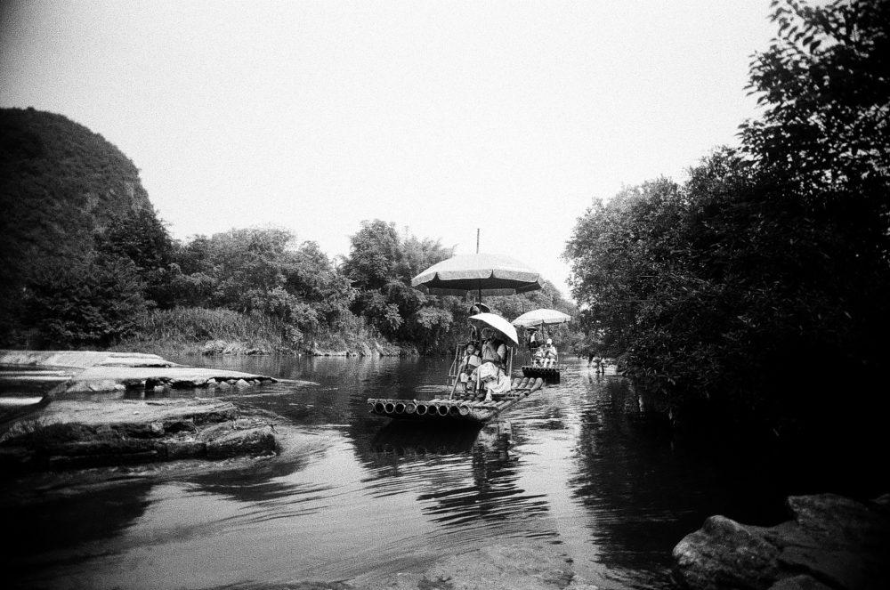 rafting in Yangshuo on Double-X 5222 film