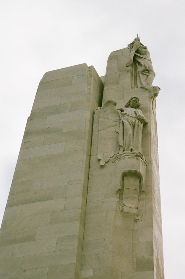statues of Peace and Knowledge at the Vimy Memorial