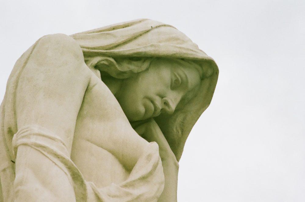 statue of Canada Bereft at Vimy Memorial
