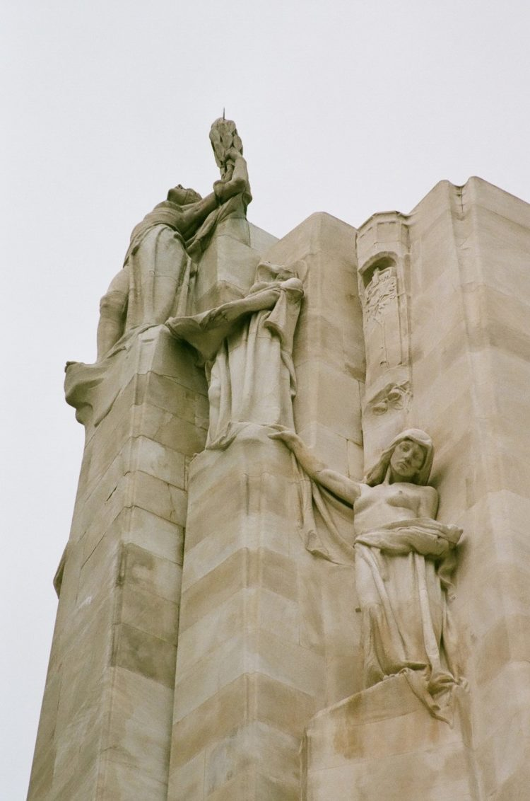 Statues of Peace, Honour and Charity at the Vimy Memorial