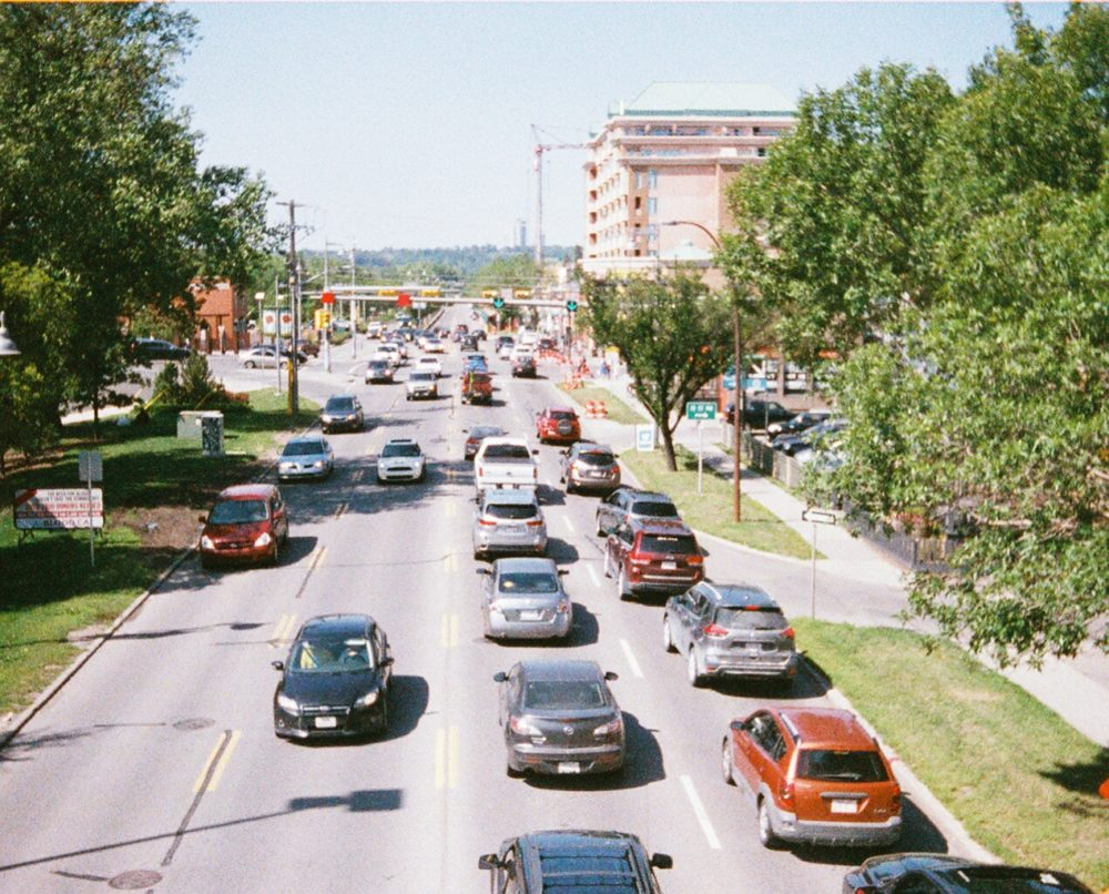 The traffic on Calgary's Memorial Drive