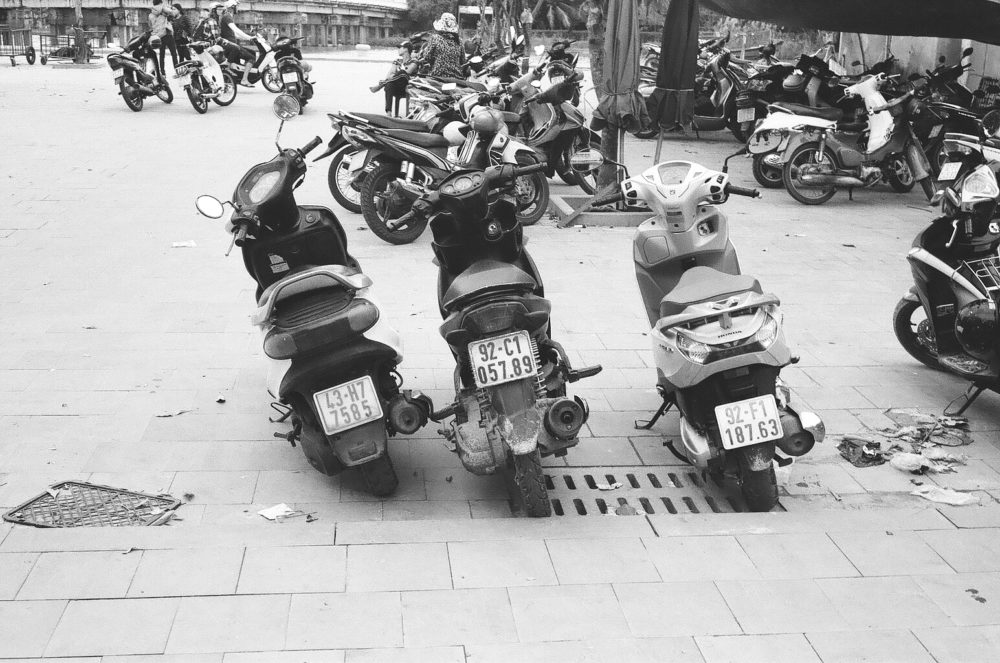 scooters in Hoi An, Vietnam