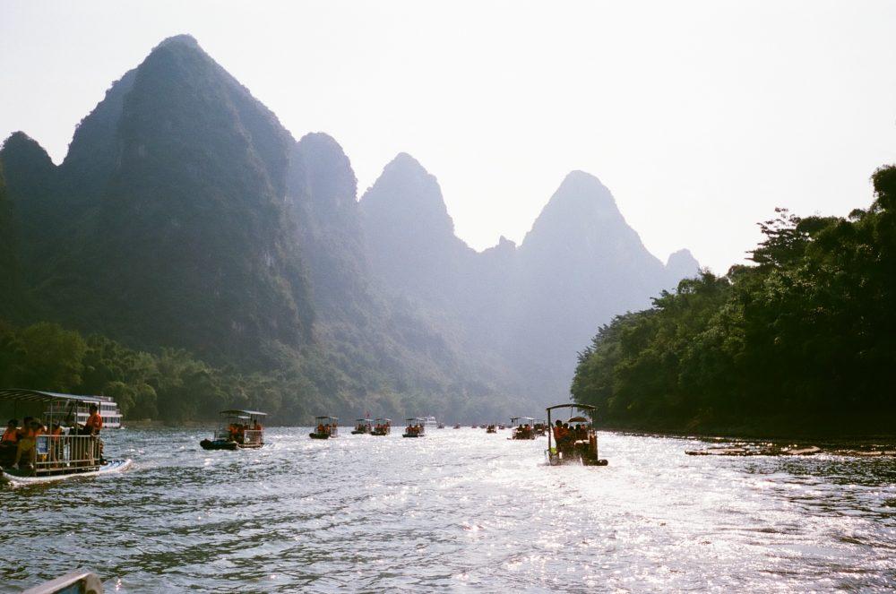 River rafting in Yangshuo, China
