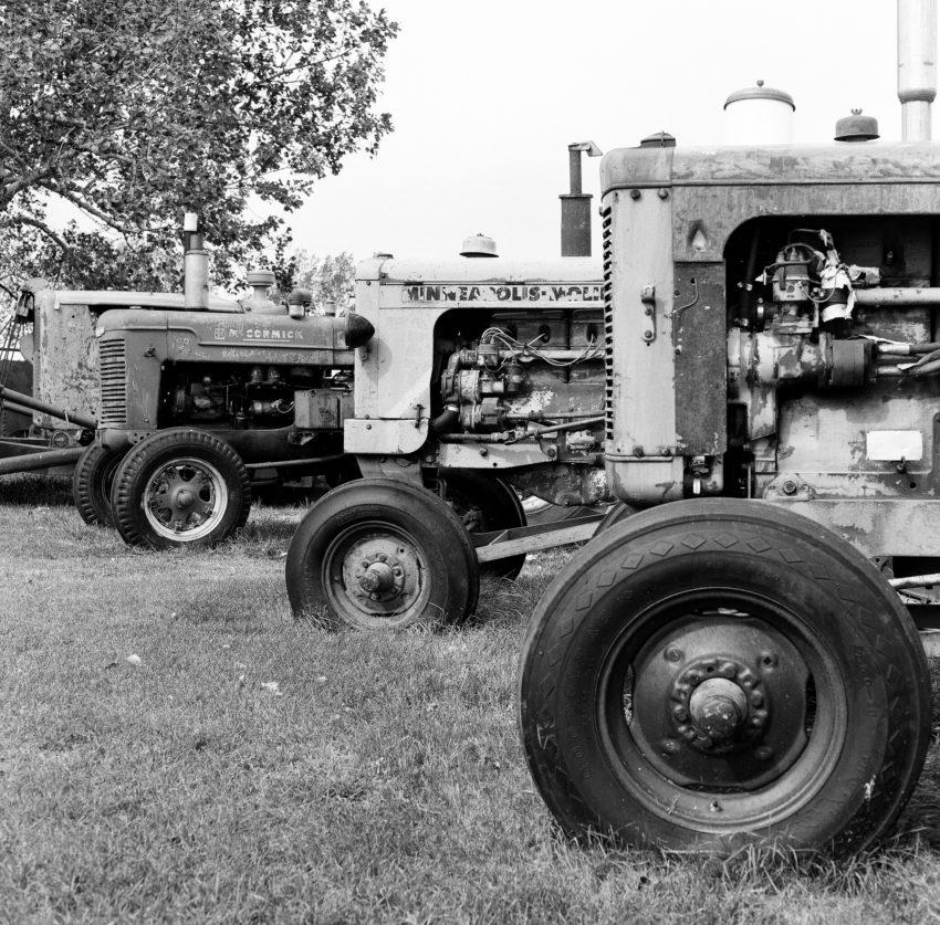 tractors at Coyote Flats