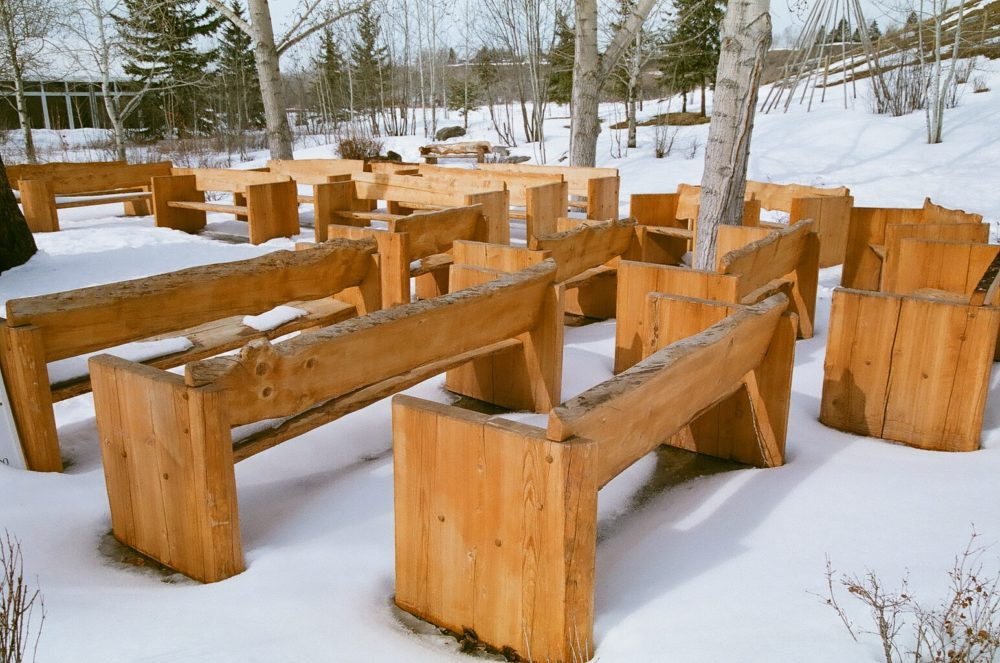 benches in the Artisan Gardens, Bow Valley Ranch